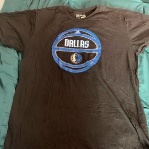 Adidas Dallas Mavericks Tee Black Sz XL
